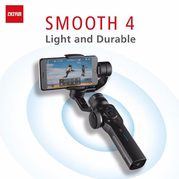 Zhiyun Smooth4 Smooth 4 3-Axis Handheld Gimbal Stabilizer for Smartphone  Action Camera IPhone X 8 Gopro Hero 5 Sjcam YI Mic Kit