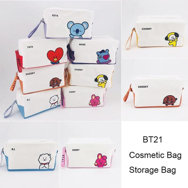 Bt21 Pencil Case Bts Cosmetic Bag Cartoon Storage Bag Lovely Fashion by Wish