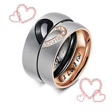 Steel, Heart, Love, wedding ring