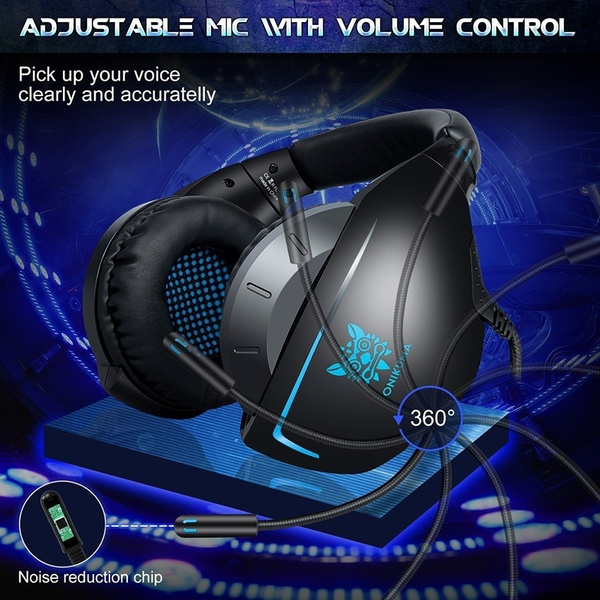 Onikuma New Casque Ps4 Gaming Headset With Microphone Wired Pc Gamer Stereo Earphones Headphones For Fortnite New Xbox Onelaptop Tablet