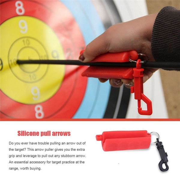 Outdoor Silicone Gel Archery Target Hunting Shooting Bow Arrow Puller  Remover Keychain Tool