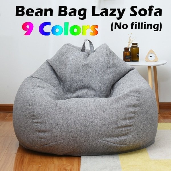 Sensational Fashion Solid Color Single Bean Bag Lazy Sofa Cover Diy Filled Inside No Filling Pabps2019 Chair Design Images Pabps2019Com