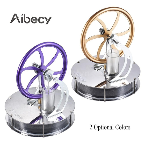 Aibecy Low Temperature Stirling Engine Motor Model Heat Steam Education Toy Kit