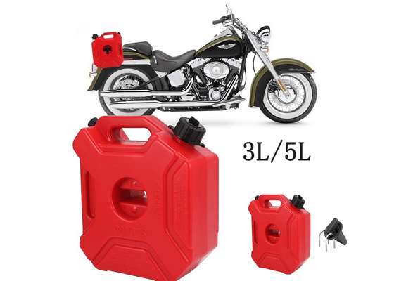 5L Portable Plastic Fuel Jerry Can with Holder Car Motorbike ATV Spare Container