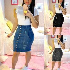 Summer, Fashion, Waist, Women jeans