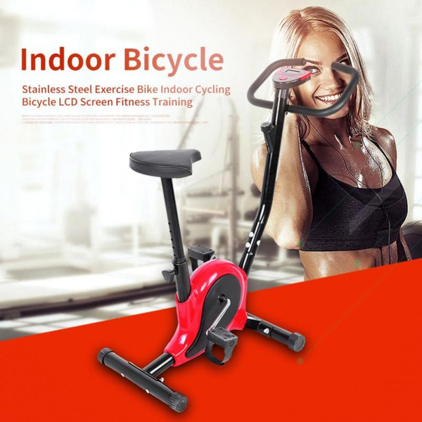 Stationary Exercise Bike Fitness Cycling Bicycle Cardio Home Sport Gym Training