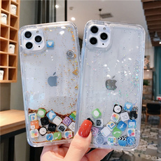 iphone8plu, case, Silicone, Bling