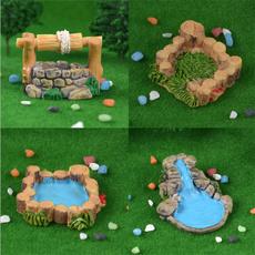 Gardening, microlandscapedecoration, miniature, pool