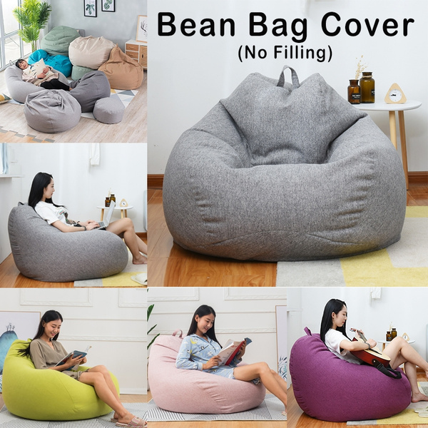 Fantastic Large Bean Bag Chairs Couch Sofa Cover Indoor Lazy Lounger For Adults Kids Wash No Filling Ibusinesslaw Wood Chair Design Ideas Ibusinesslaworg