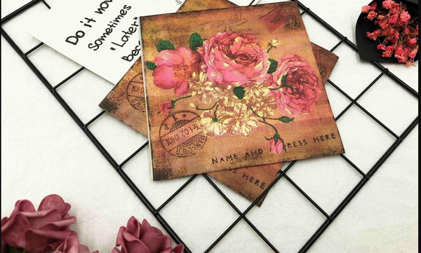 Rice Paper Dragonfly and Flowers Decoupage Rice Papers Hobby Colors A4 Stamperia