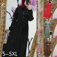 Plus Size, pleated dress, Long Sleeve, plus size dress