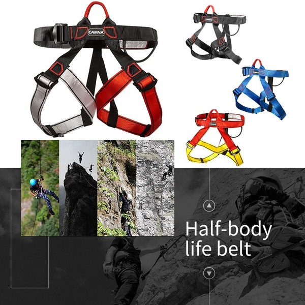 Professional Rock Climbing Downhill Harness Rappel Rescue Safety Belt