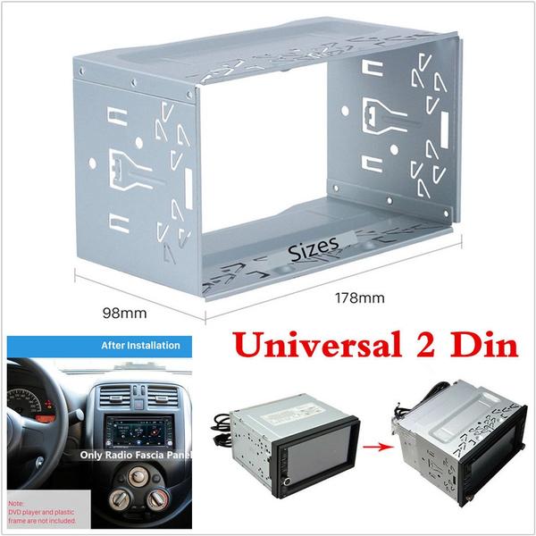 1Pcs Universal Car Van Stereo Radio Double 2 Din Radio Panel Mounting Cage Frame