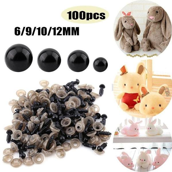 Bear Making Dolls Soft Toys Knitting 9mm Black Plastic Safety Eyes x 10 Pairs