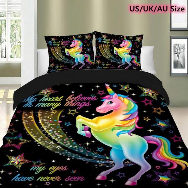 New Bedding 3d Bedding Set Unicorn Bedding Set Duvet Cover Unicorn