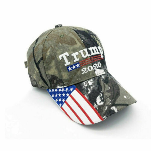 Trump 2020 Hat USA Flag Camo Baseball Cap 3D Embroidery Keep America Great  Camouflage Snapback Dad Hat Trucker Caps