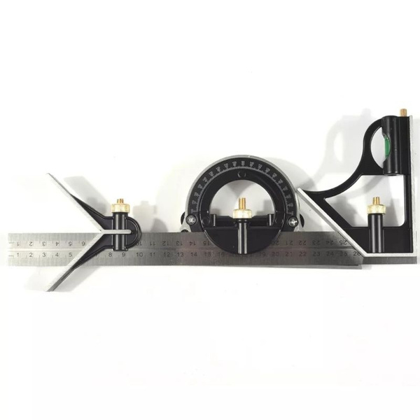 """12/"""" Combination Protractor Tri Square Angle Ruler Machinist Measuring Tools US"""