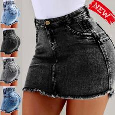 Summer, Shorts, Dress, Slim Fit