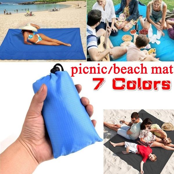 Portable Folding Beach Pocket Blanket Camping Mat Waterproof Outdoor Picnic Mat