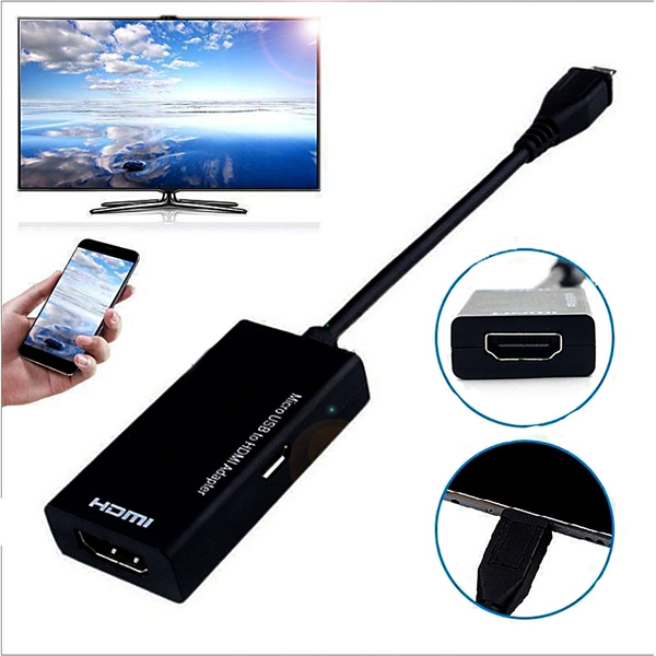 Micro USB B Type MHL 2.0 To HDMI HDTV TV HD Adapter Cable for Cell Phone Mobile