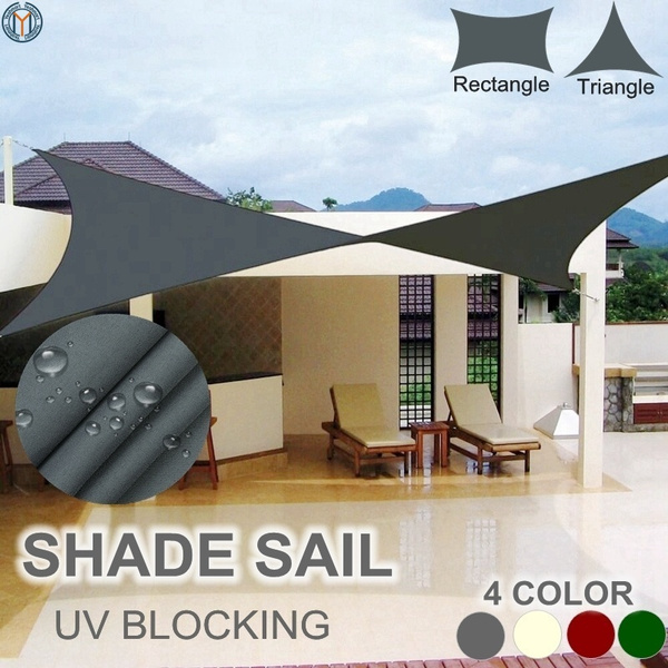 New Sun Shade Sail Garden Patio Swimming Pool Awning Canopy Sunscreen UV  Outdoor ( Rectangle, Triangle, 5 colors, 4 size)