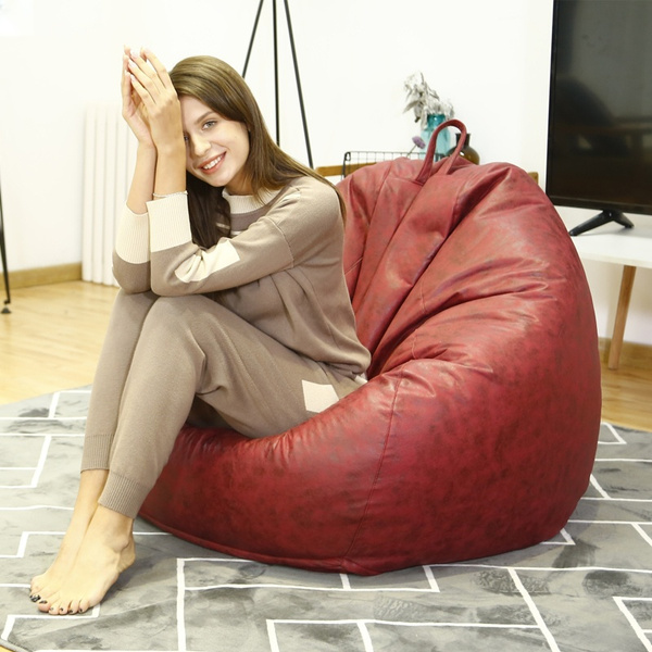 Strange Technology Cloth Bean Bag Cover Fashion Large Beanbag Chair No Filler Living Room Bedroom Sofa Bed No Filling Dailytribune Chair Design For Home Dailytribuneorg