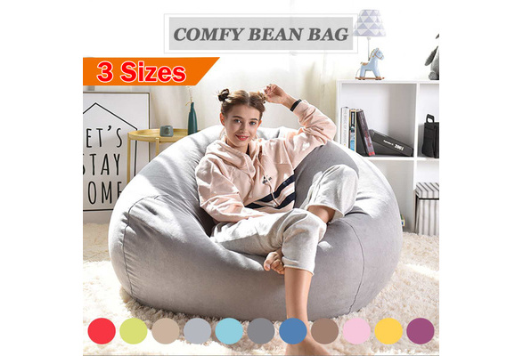 Peachy Large Bean Bag Sofa Cover Lounger Chair Sofa Ottoman Seat Living Room Furniture Without Filler Beanbag Bed Pouf Puff Couch Tatam No Filling Bralicious Painted Fabric Chair Ideas Braliciousco