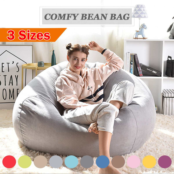Large Bean Bag Sofa Cover Lounger Chair Sofa Ottoman Seat Living Room  Furniture Without Filler Beanbag Bed Pouf Puff Couch Tatam (No Filling)