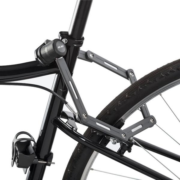 Via Velo Bike Lock with High Security Hardened Steel Metal Great Bike Safety Tool Bike Lock Folding Steel Joints