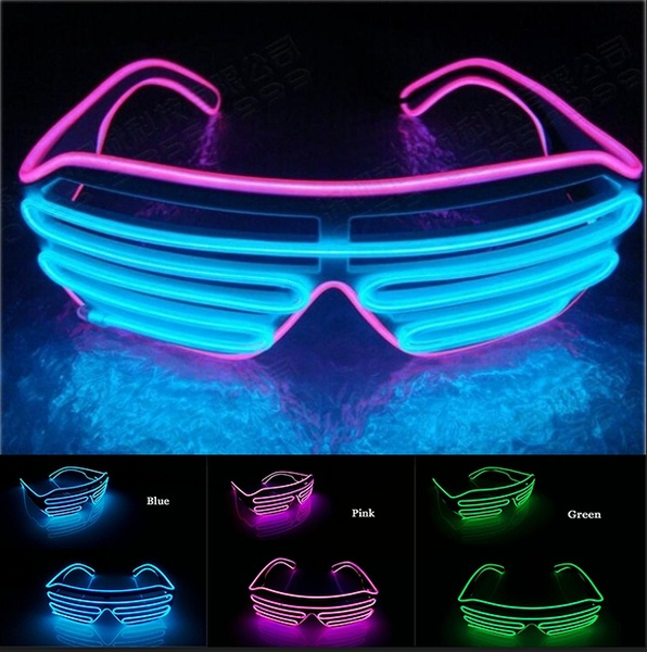 LED Shutter Glasses Light Up Shades Flashing Rave Wedding Party Supplies Club