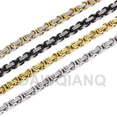 Box, Steel, Chain Necklace, necklaces for men