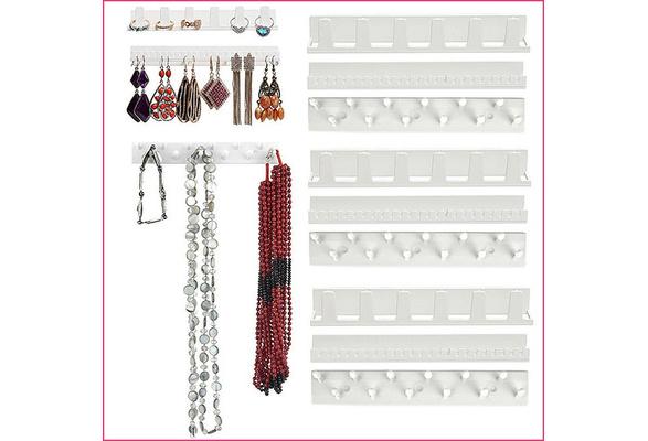 Adhesive Wall Mount Jewelry Hooks Holder Storage Set Organizer Display 9Pcs