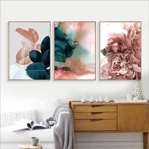 pink, Blues, pinkblueabstractart, Wall Art