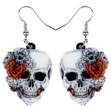 earringsforkid, halloweenearring, Fashion, Skeleton