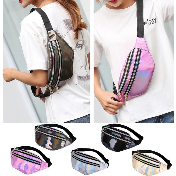 fd74ea03a06d Laser PVC Hologram Fanny Pack Waist Bags For Women Bum Bag Chest Bag Travel  Beach Shiny Hip Bag Fashion Travel Bag