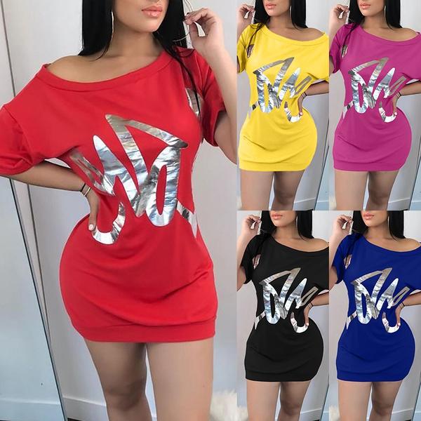 Summer, letter print, Fashion, Shirt