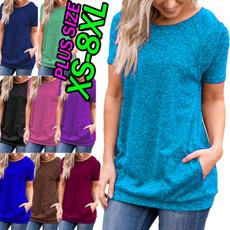 Summer, Moda, Cotton T Shirt, Women Blouse
