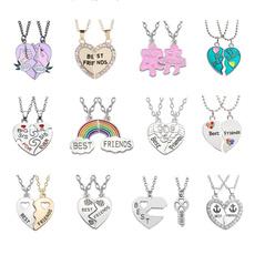 Heart, 2friendshipnecklace, Jewelry, rainbow