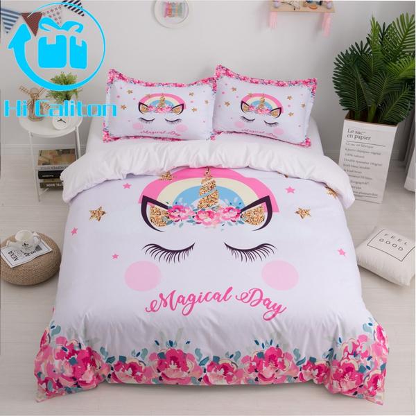 unicornduvetcover, unicornbedding, unicornbeddingforgirl, Bedding