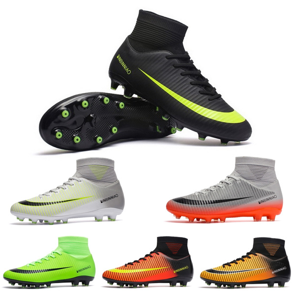 ebf1afc67 Adult and Kiss Soccer Shoes Outdoor Football Cleats Professional and ...