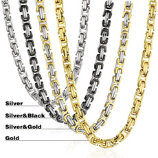 Heavy, punkchain, necklaces for men, mennecklacegold