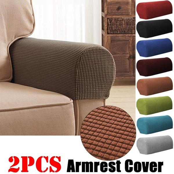 2pcs Armrest Covers Anti-Slip Waterproof Furniture Protector ...
