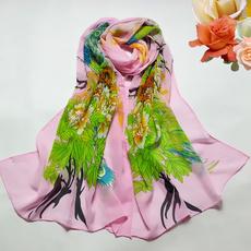 peacock, Fantastic, women scarf, chiffon scarf