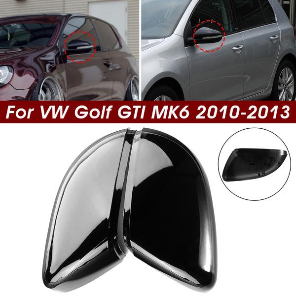 2pcs Car Wing Side Rear View Mirror Case Cover Trim Cap For Vw Golf Gti Mk6 Touran Wish