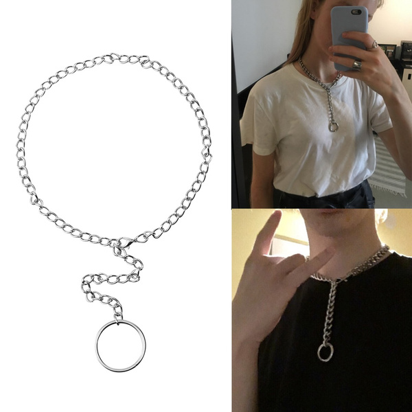 Chain Necklace, punk necklace, Jewelry, simplechain
