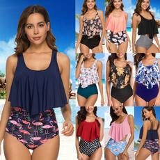 Summer, Plus Size, Floral, bikini set