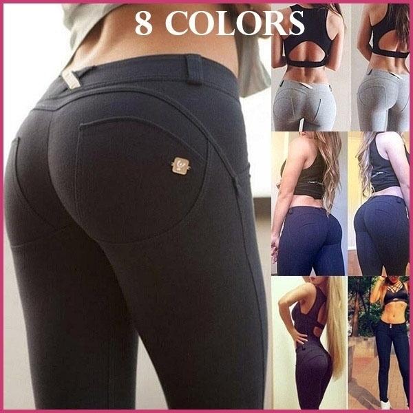 f7e1a2243b054a 8 Colors Women Fashion Sexy Long Pants Elastic Hip Pants Slimming ...