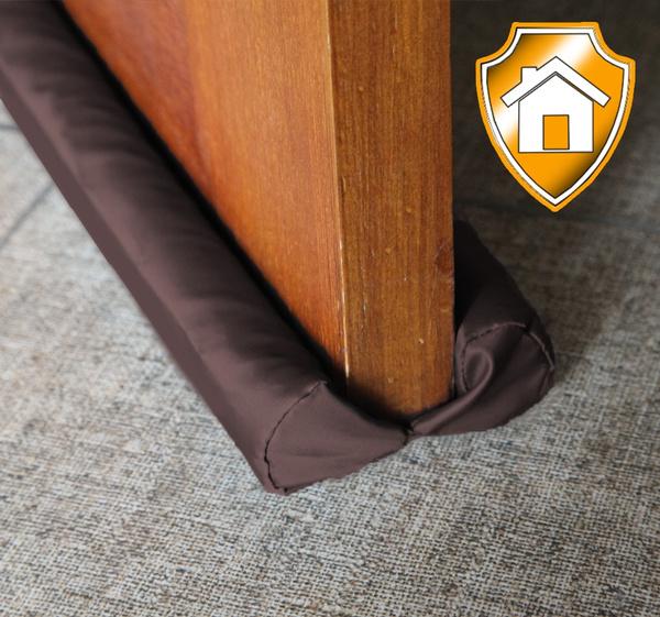 Door Draft Stopper Brown Adjustable Double Sided Insulator Adjustable 32 To  38 Inch Door Air Blocker For Bottom Of Doors