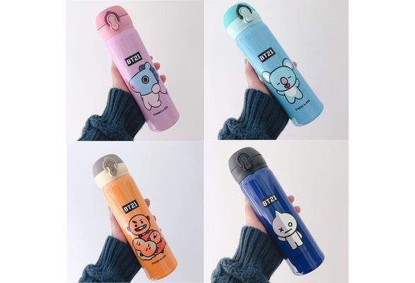 KPOP BTS Wings Gradient Water Bottle Frosted Bangtan Boys J-Hope Suga Drink Cup