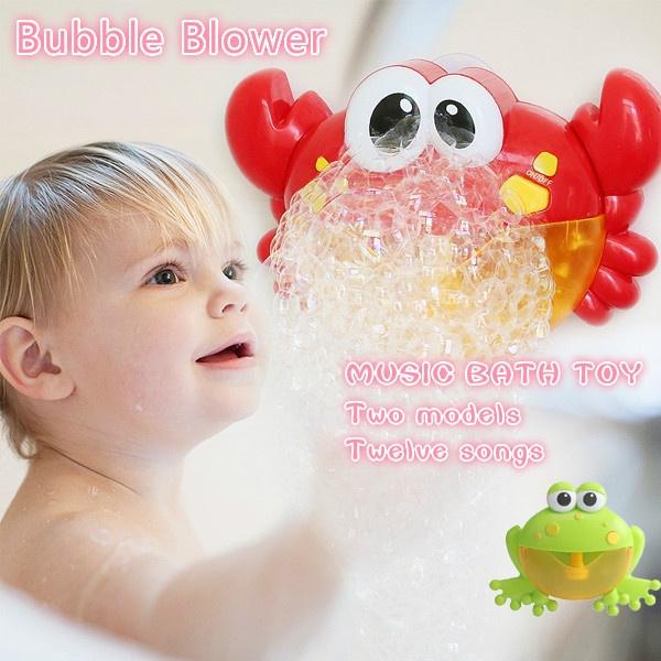 Frog Bubble Machine 12 Songs Musical Bubble Maker Baby Children Bath Shower Toy